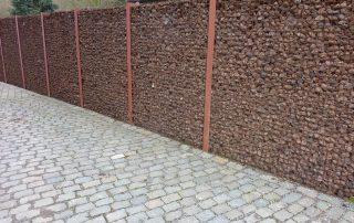 Tuinmaterialen tuinscherm lavastenen Heverlee